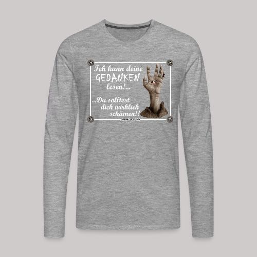 simply wild Gedanken lesen on black - Männer Premium Langarmshirt