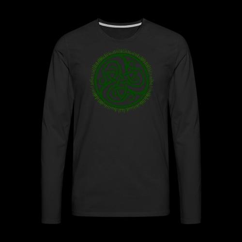 Green Celtic Triknot - Men's Premium Longsleeve Shirt