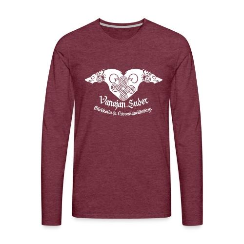 Vanajan Sudet Logo (valkoinen) - Miesten premium pitkähihainen t-paita