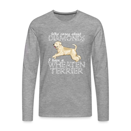 Wheaten Terrier Diamonds 4 - Men's Premium Longsleeve Shirt