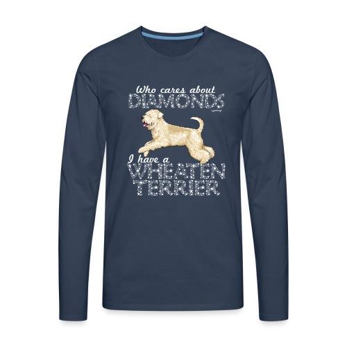 Wheaten Terrier Diamonds 4 - Men's Premium Longsleeve Shirt