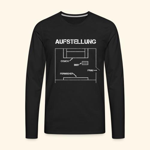 Fussball Aufstellung Weltmeisterschaft Geschenk - Männer Premium Langarmshirt