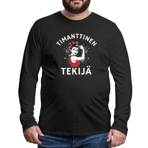 Timanttinen Tekijä - Miesten premium pitkähihainen t-paita