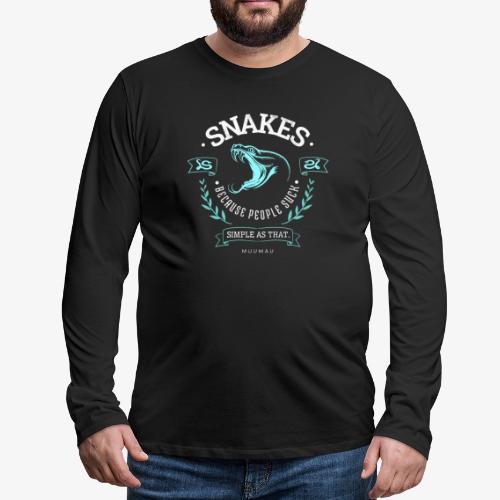 Snakes - People Suck - Miesten premium pitkähihainen t-paita