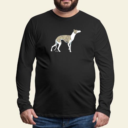 Whippet Vain VII - Miesten premium pitkähihainen t-paita