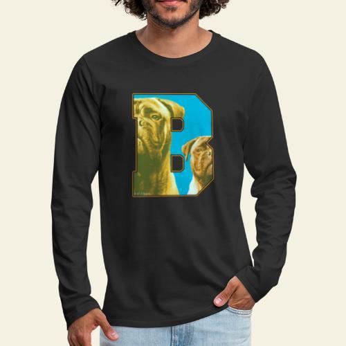 Bullmastiff Retro B I - Miesten premium pitkähihainen t-paita