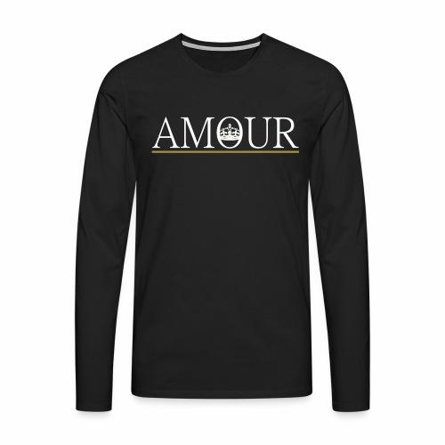 Long Sleeve Amour Logo White - Men's Premium Longsleeve Shirt