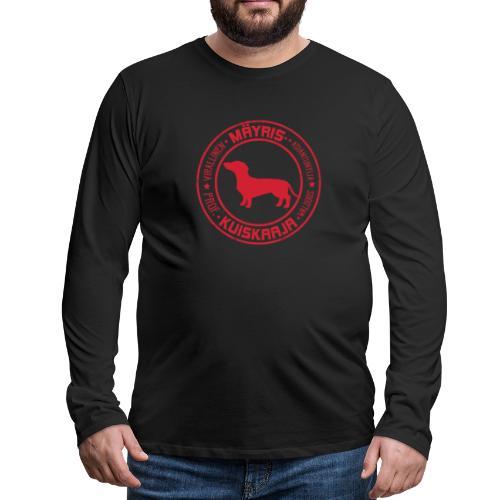 Mäyriskuiskaaja RED II - Miesten premium pitkähihainen t-paita