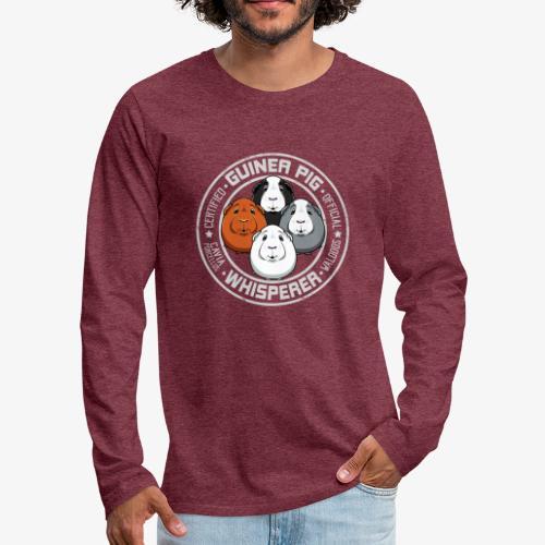 Guinea Pig Whisperer II - Miesten premium pitkähihainen t-paita