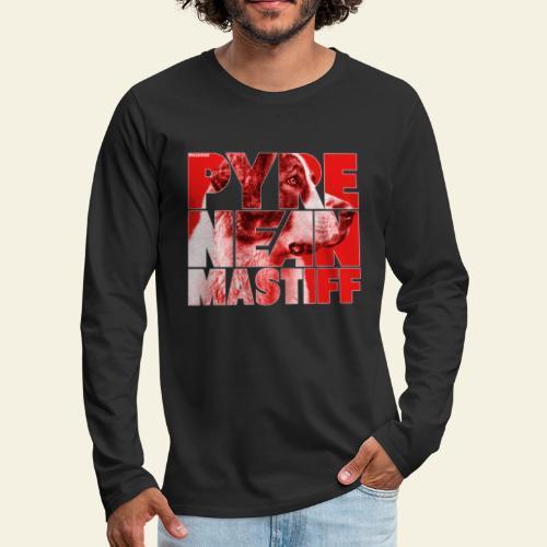 Pyrenean Mastiff III - Miesten premium pitkähihainen t-paita