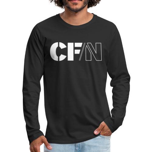 CFN White Grey - Långärmad premium-T-shirt herr
