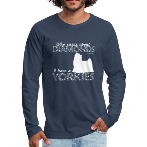 yorkiediamonds2 - Miesten premium pitkähihainen t-paita