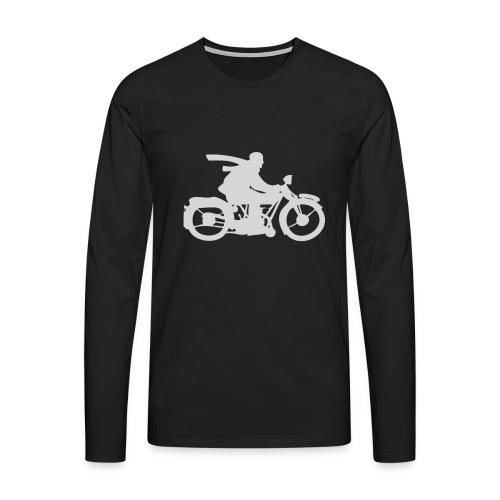 vintage motorcycle weiss - Männer Premium Langarmshirt