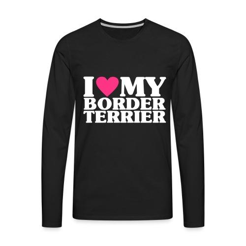 iheartmyborderterrier - Men's Premium Longsleeve Shirt