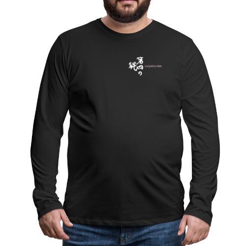 Calligraphy and logo La quarta corda (white) - Maglietta Premium a manica lunga da uomo