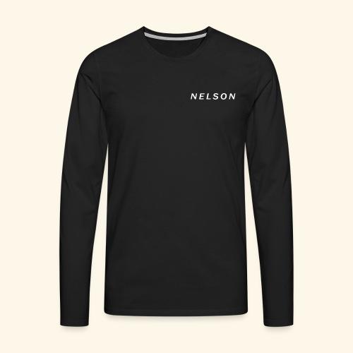 NELSON March Merch - Herre premium T-shirt med lange ærmer
