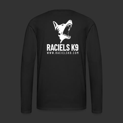 Raciels K9 TEXT & HEAD 2 - Miesten premium pitkähihainen t-paita