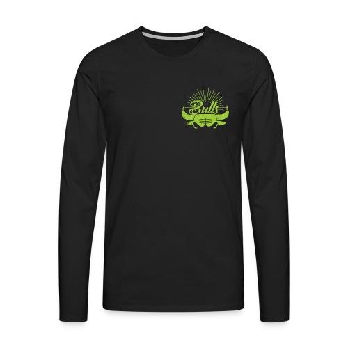 Toros verdes, Bulls BasketBall deporte - Camiseta de manga larga premium hombre