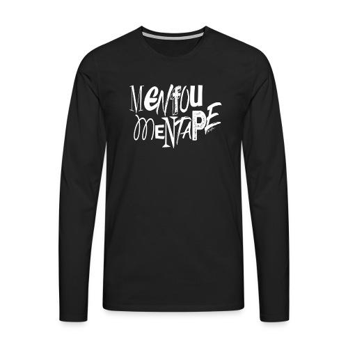 MENFOUMENTAPE blanc et noir by Alice Kara - T-shirt manches longues Premium Homme