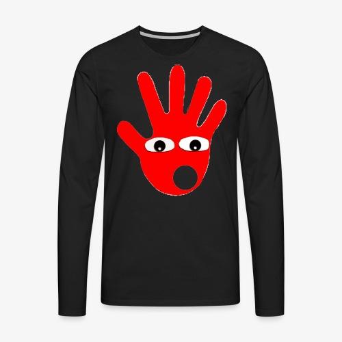 Hände mit Augen - T-shirt manches longues Premium Homme