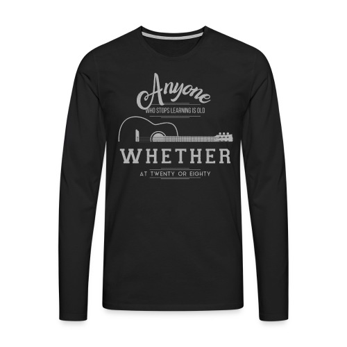 guitar - Koszulka męska Premium z długim rękawem