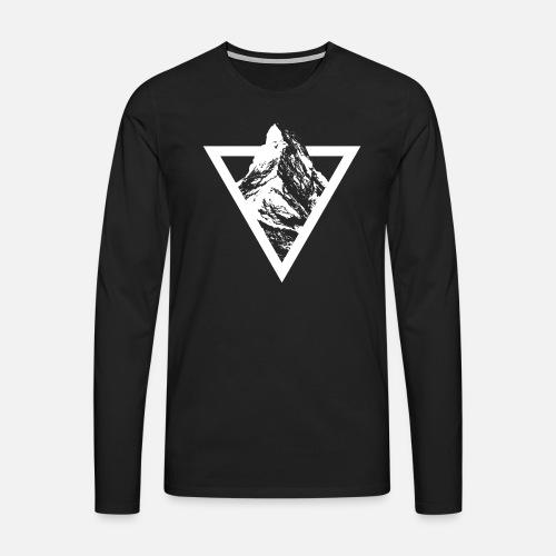 MATTERHORN TRIANGLE SIMPLE - Männer Premium Langarmshirt