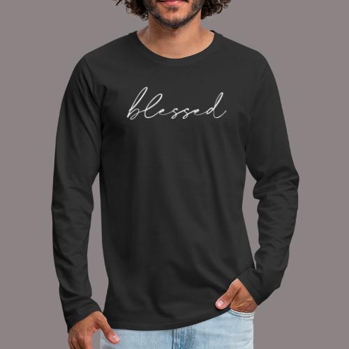 blessed weiss - Männer Premium Langarmshirt