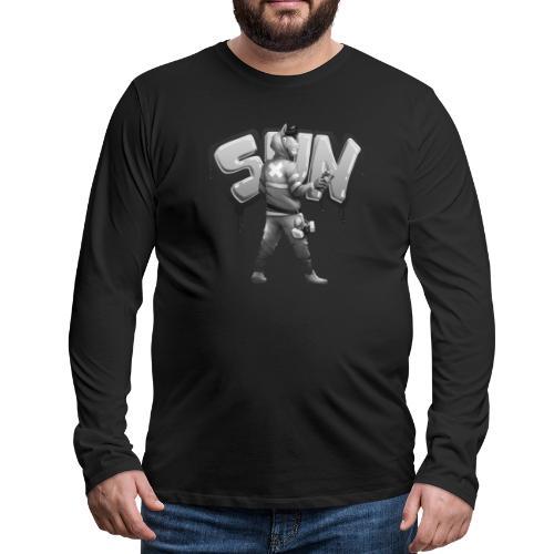 Suntted Graffeur N&B - T-shirt manches longues Premium Homme