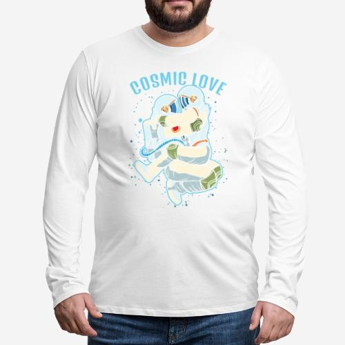 kosmische Liebe Astronautenraum - Männer Premium Langarmshirt