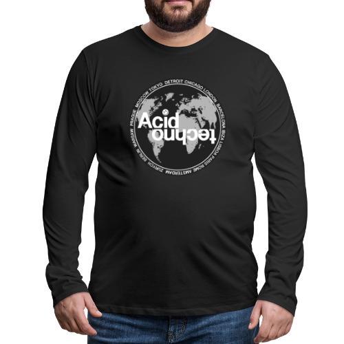 acid techno world - Koszulka męska Premium z długim rękawem