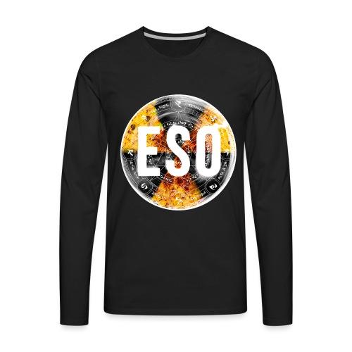 eso logo for tshirtspinbw png - Men's Premium Longsleeve Shirt