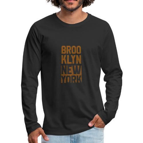 Brooklyn New York - Männer Premium Langarmshirt