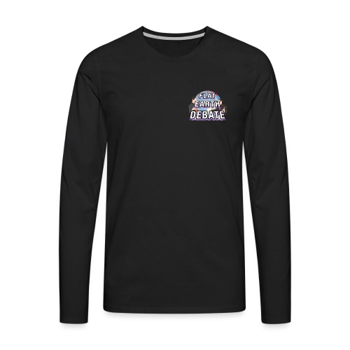 Flat Earth Debate Solid - Men's Premium Longsleeve Shirt