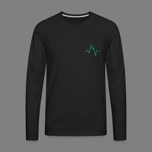 Wave zig - Männer Premium Langarmshirt