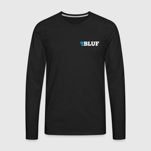 blufwhitetext - Men's Premium Longsleeve Shirt