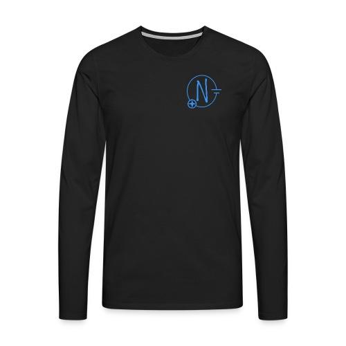 Logo1 blau - Männer Premium Langarmshirt