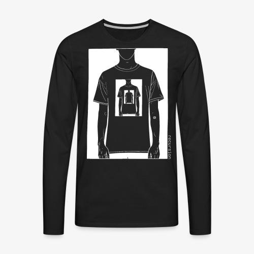 Recursion inverted | Geek | Art | Loop | - Men's Premium Longsleeve Shirt