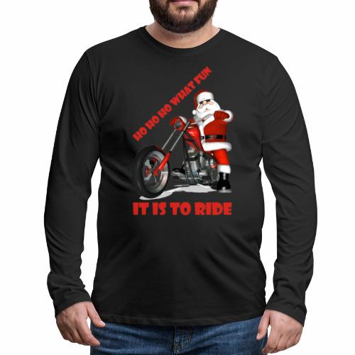 ho ho ho what fun - Men's Premium Longsleeve Shirt