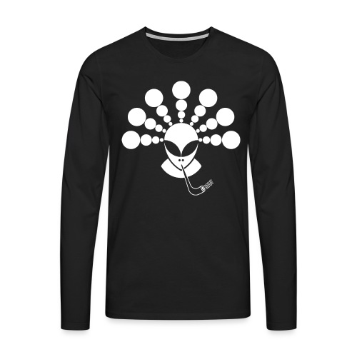 The Smoking Alien White - Men's Premium Longsleeve Shirt