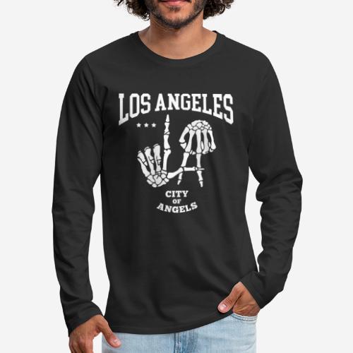 Los Angeles la Stadt der Engel - Männer Premium Langarmshirt