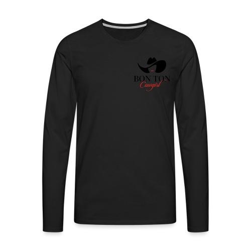 Bon Ton - Maglietta Premium a manica lunga da uomo