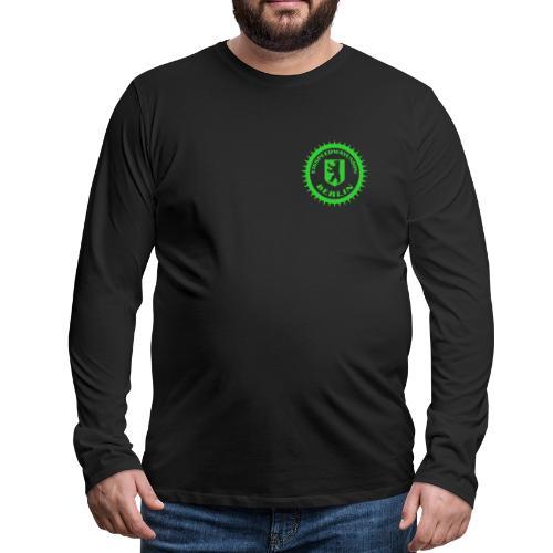 Logo klein ESU transp Green - Männer Premium Langarmshirt