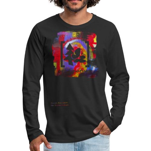 #art.4.nature / rot - Männer Premium Langarmshirt