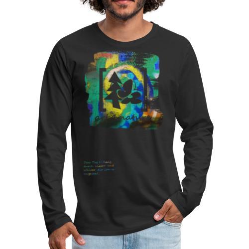 #art.4.nature / grün - Männer Premium Langarmshirt