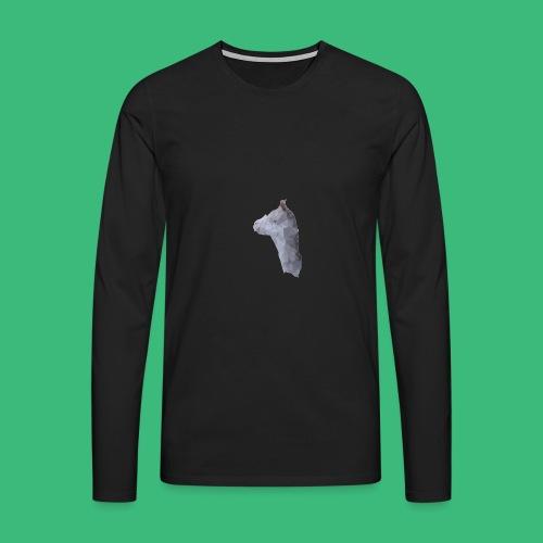 Lama KristalArt / alle kleuren - Mannen Premium shirt met lange mouwen