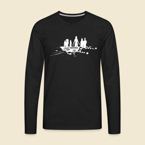 Sterk Genoeg by Natasja Poels limited edition witt - Mannen Premium shirt met lange mouwen