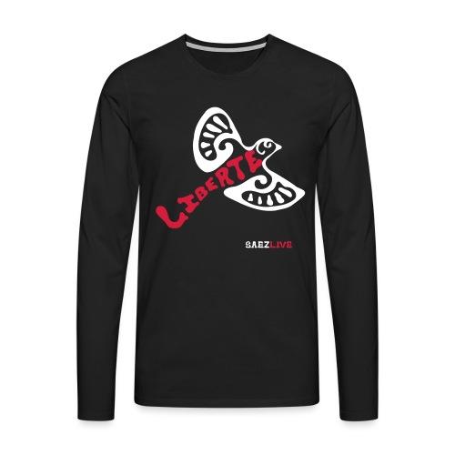 L'oiseau liberté (version light, par éoline) - T-shirt manches longues Premium Homme