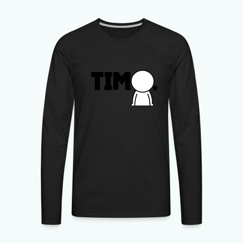 Design met ventje - Mannen Premium shirt met lange mouwen