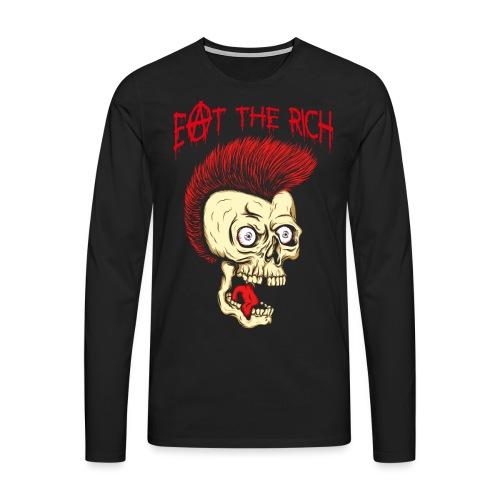 Eat The Rich (For Dark Shirts) - Männer Premium Langarmshirt