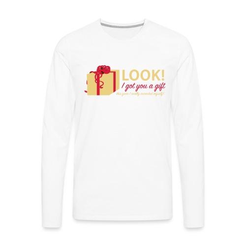 Täydellinen lahja - Miesten premium pitkähihainen t-paita